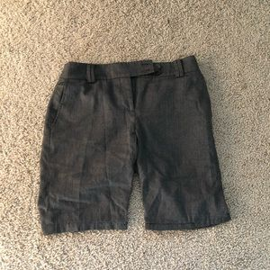 Ann Taylor Fancy Grey Loft Shorts